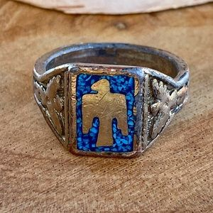 Rustic   Native American Eagle Ring   Size : 12